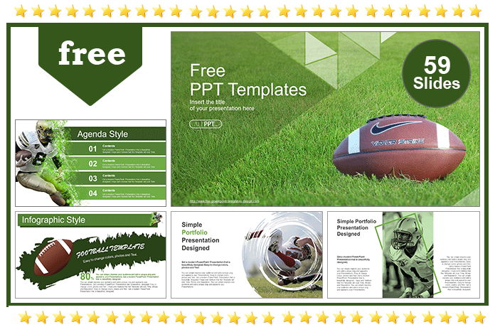 American Football Over Grass Templates